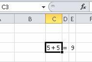 Er fem plus fem lig med 9?