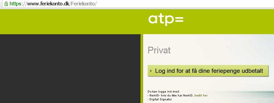 Skærmbillede fra ATP's hjemmeside